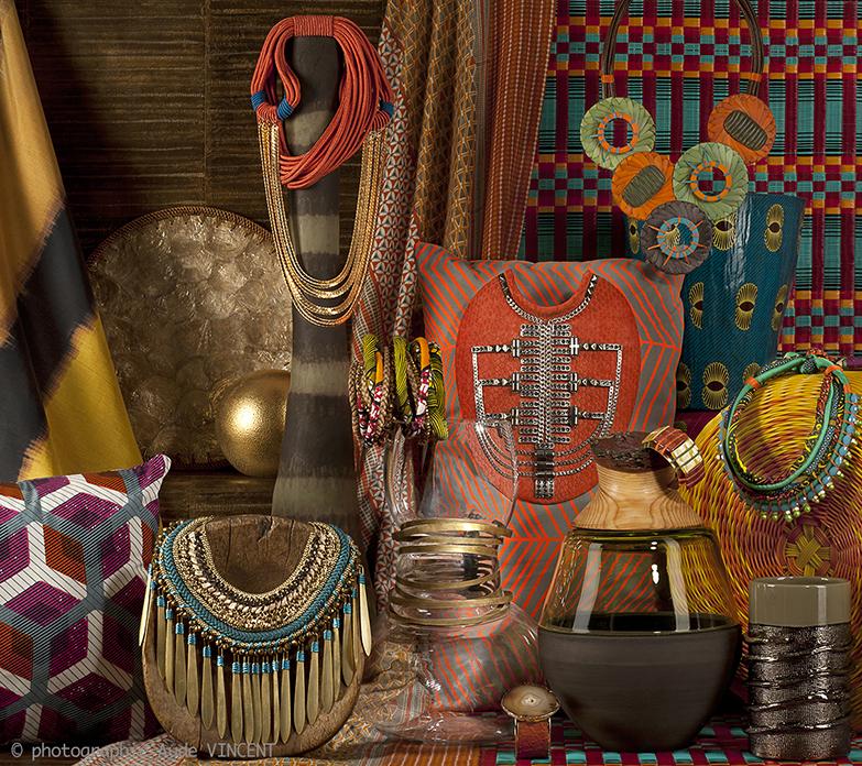 Photographie d'une Nature Morte de tendances pour les industriels de la joaillerie thème Tribal.