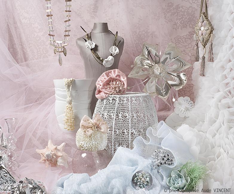 Photographie d'une Nature Morte de tendances pour les industriels de la joaillerie thème Nouvelle Romance.