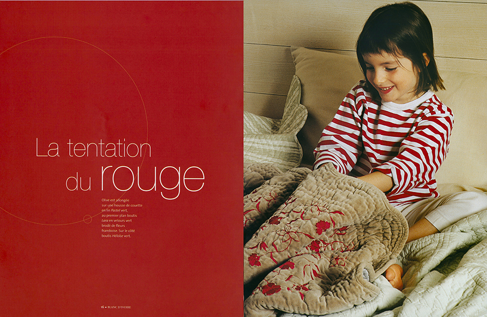 Page de catalogue de photographies d'intérieur-