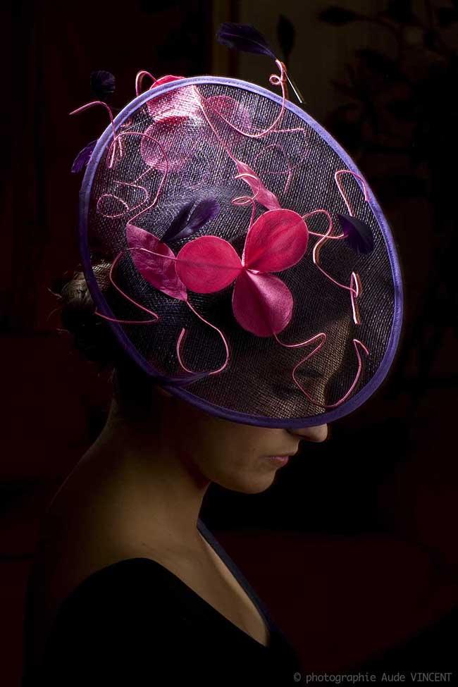 Photographie du chapeau Flores créé par Marika Chapka