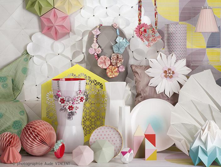 Photographie d'une Nature Morte de tendances pour les industriels de la joaillerie thème Ikebana.