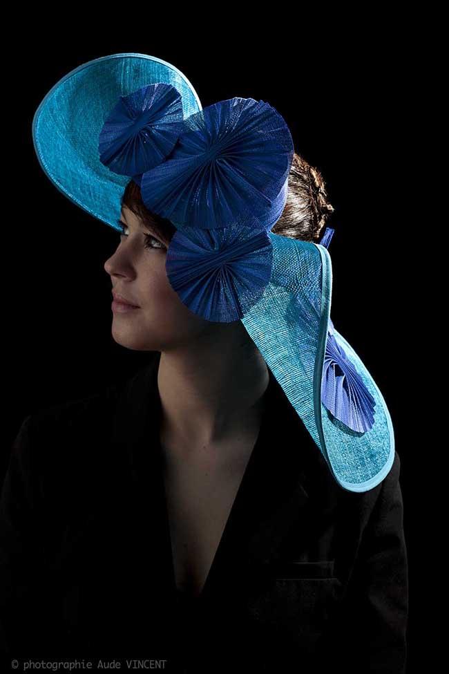 Photographie du chapeau Copenhague créé par Marika Chapka