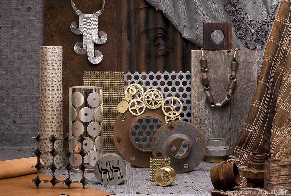 Photographie d'une Nature Morte de tendances pour les industriels de la joaillerie thème Mécano Mania.