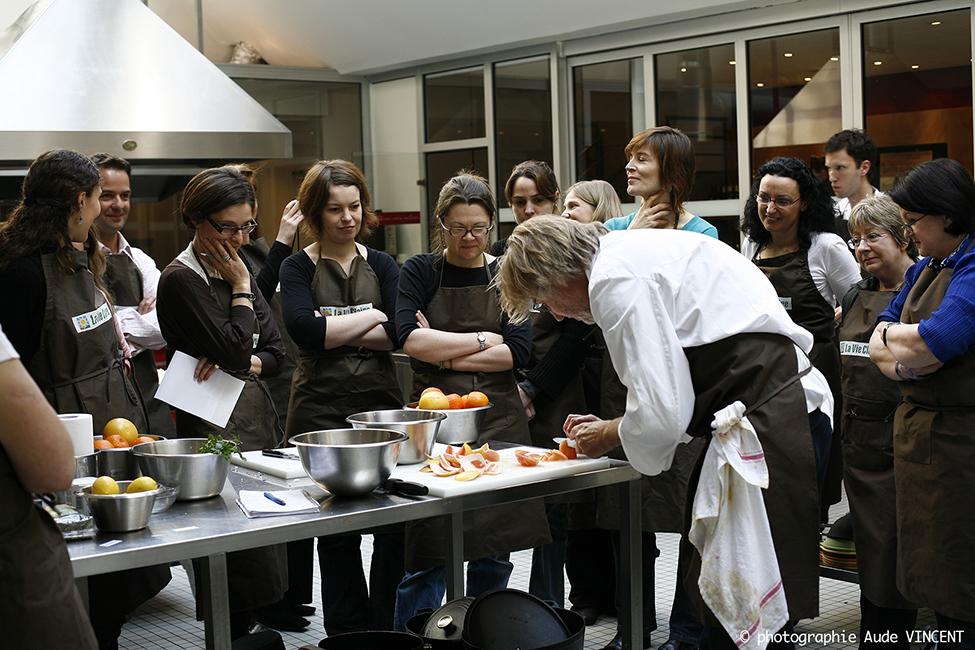 L'atelier des Chefs à Paris, atelier avec Pierre Gagnière.