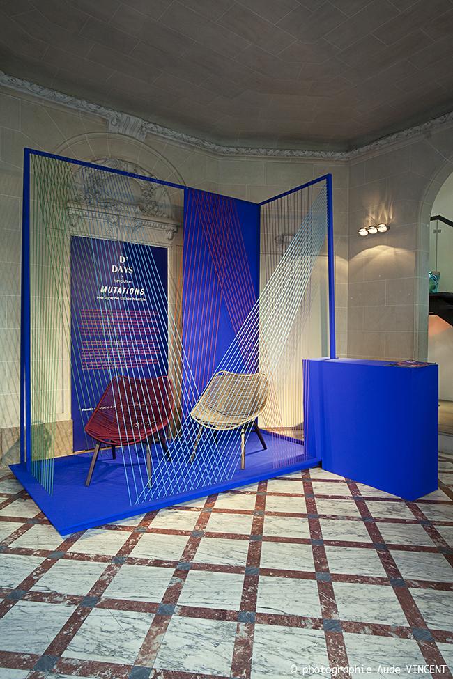 Mutations, scénographie d'E. Leriche pour RocheBobois, à l'occasion des designer's days.