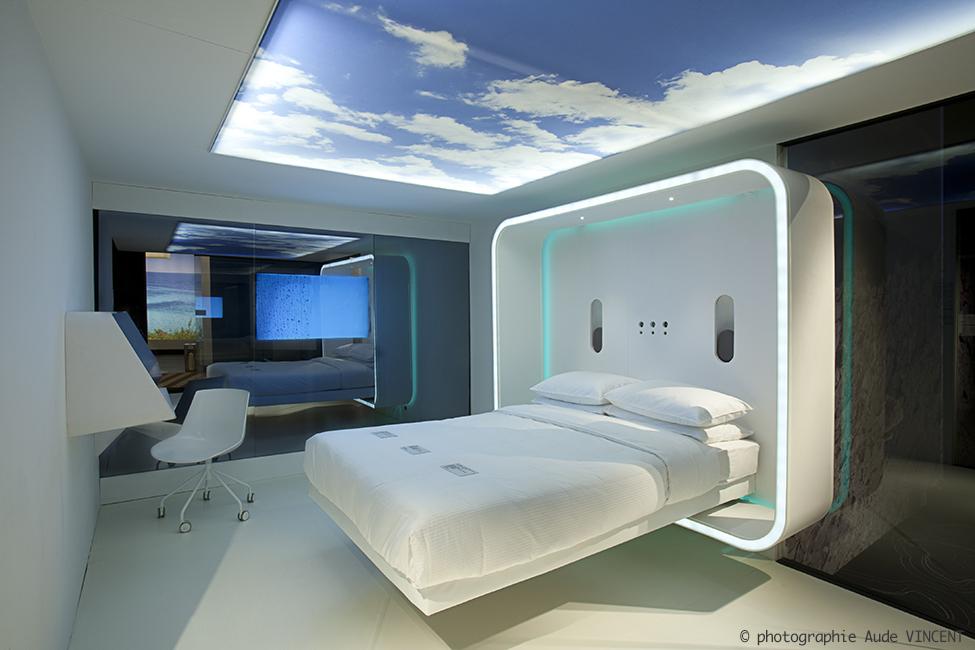 Photographie de l'espace tendances du Salon Equip Hotel, Paris.