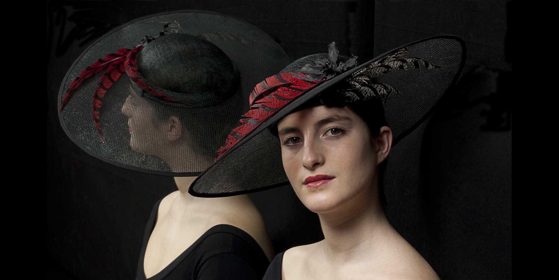Photographie du chapeau Valencia créé par Marika Chapka