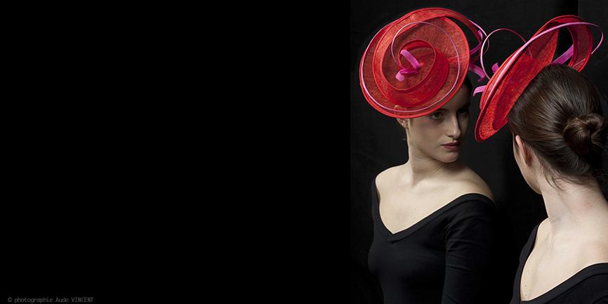 Photographie du chapeau Bilbao créé par Marika Chapka