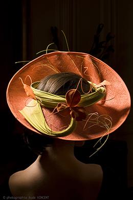 Photographie du chapeau Naples créé par Marika Chapka