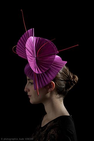Photographie du chapeau Yokohama créé par Marika Chapka