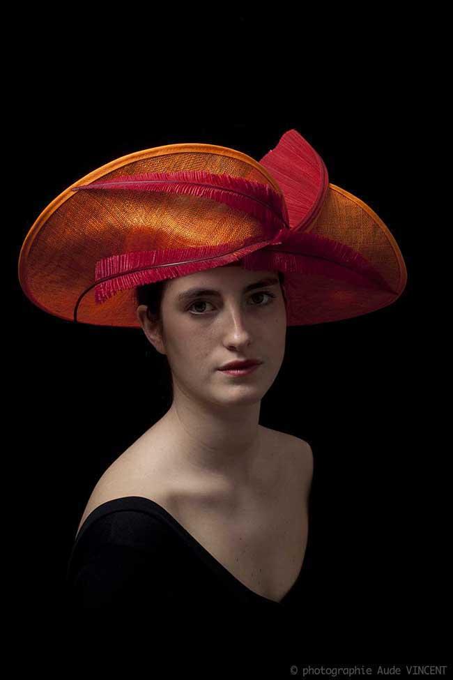 Photographie du chapeau Ronda créé par Marika Chapka